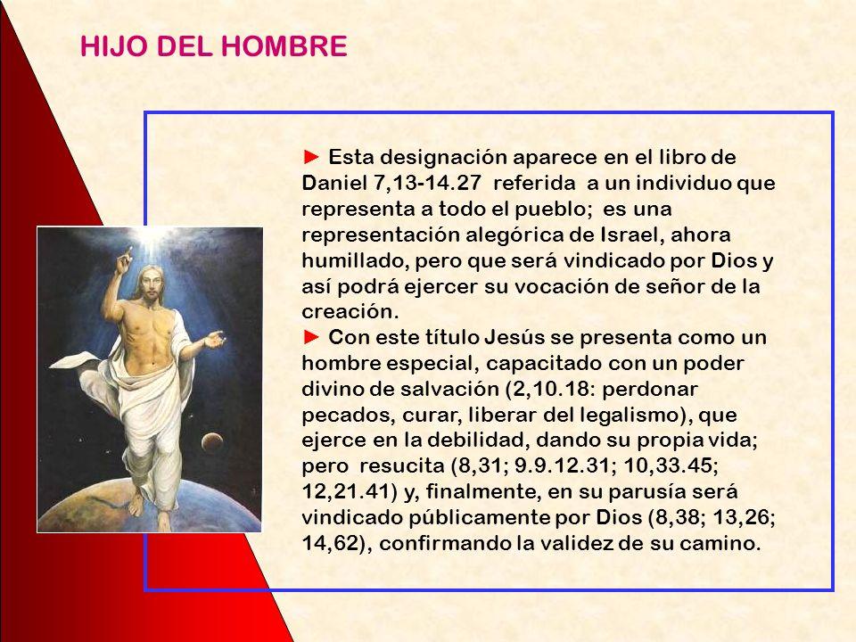 Presenta a Jesús realizando la misión del Siervo de Yahvé, desde el bautismo a la cruz. En el bautismo el Padre lo unge con su Espíritu como Mesías Hi