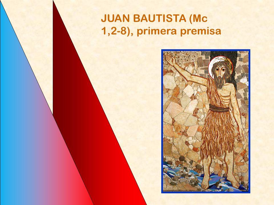 A la luz de esto Mc 1,1, dice: Comienzo (de que el Evangelio es Jesús Mesías e Hijo de Dios) es Juan Bautista... la unción mesiánica de Jesús... la te
