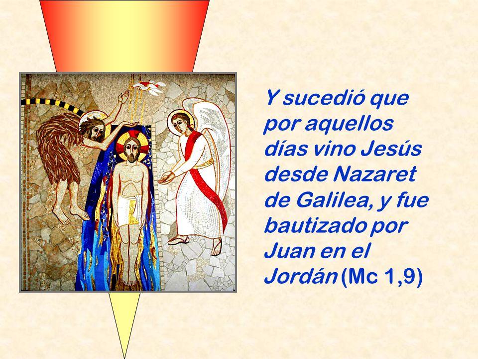 Cuando Juan proclama el bautismo de conversión, Jesús decide ir a recibirlo. Cree que su vocación es dar cumplimiento a las profecías del Siervo de Ya
