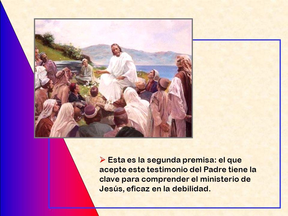 La primera promesa del Siervo de Yahvé (Is 42,1-7) comienza: He aquí mi siervo a quien yo sostengo, mi elegido en quien se complace mi alma. He puesto