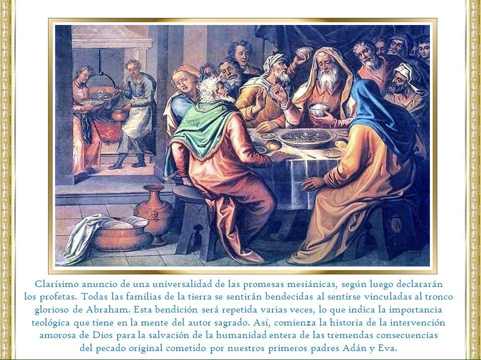 Entonces se le informa a Abraham sobre la inminente destrucción de Sodoma y Gomorra debido a sus pecados, pero obtiene de Yahveh la promesa de que no las destruirá si encuentra diez justos allí.