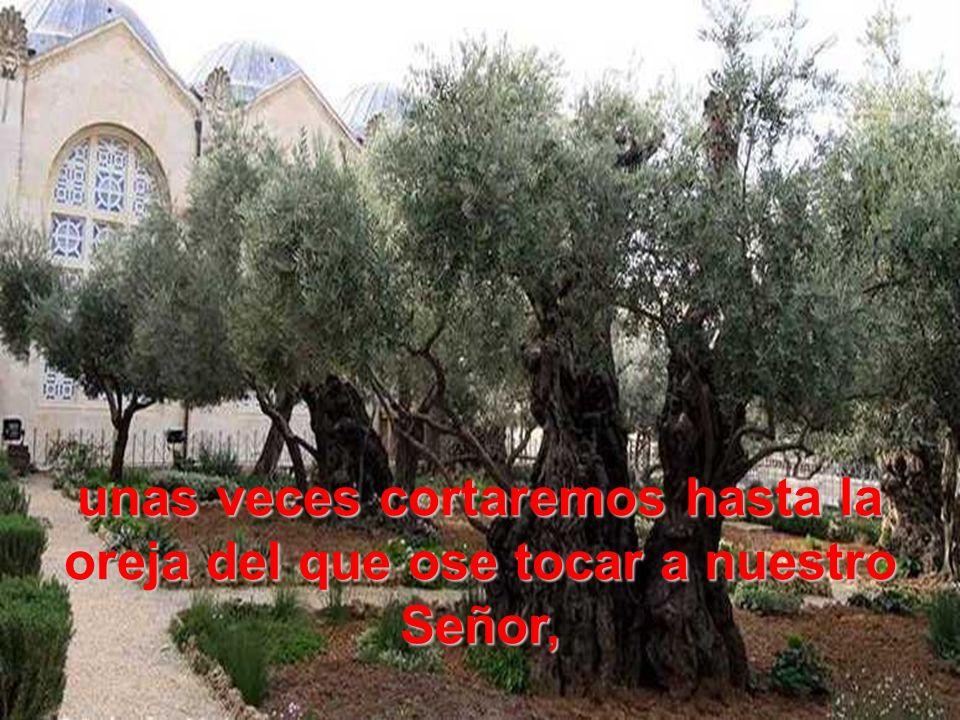 y otras crucificándole de mil maneras, como hizo la muchedumbre judía hace dos mil años;