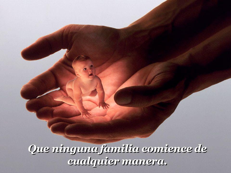 Oração pela Familia Dejar las diapositivas que se sucedan automáticamente, pues la música de fondo, está sincronizada con las imágenes. Oración por la