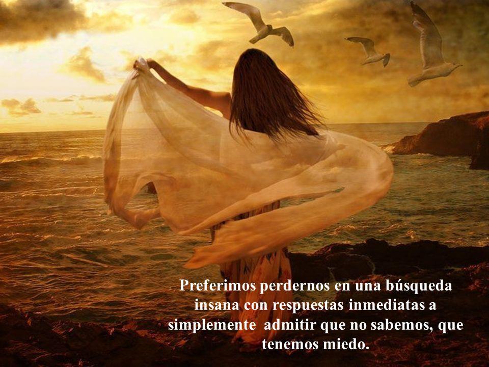 Preferimos el nudo en la garganta a las lágrimas que brotan de lo más profundo de nuestro ser...