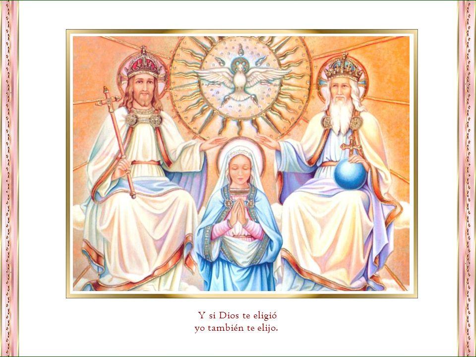 María, madre nuestra, yo te venero con profundo amor guíame hacia Jesús y enséñame ser un amoroso reflejo de su luz. Protégeme con tu manto celestial