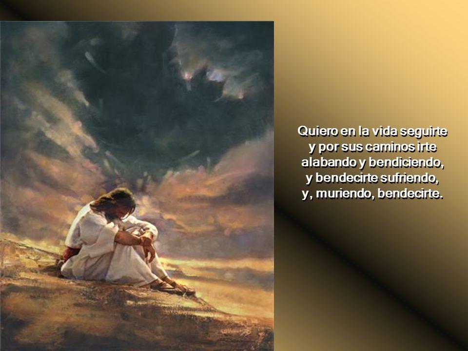 Cuerpo llagado de amores, yo te adoro y yo te sigo. Oh, Señor de los señores, quiero partir tus dolores subiendo a la cruz contigo. Cuerpo llagado de
