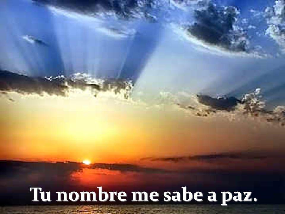 Tu nombre me sabe a paz Tu nombre me sabe a cielo Me sabe tu nombre a luz Tu nombre sabe a consuelo Tu nombre me sabe al tiempo En que de joven luchab