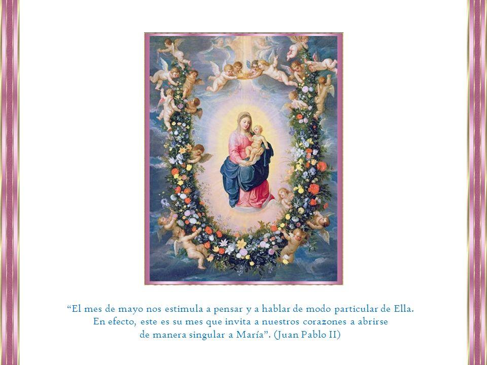 Supliquemos hoy a Santa María que nos haga contemplativos, que nos enseñe a comprender las llamadas continuas que el Señor dirige a la puerta de nuestro corazón. 21 de Mayo LA ORACIÓN DE MARÍA Pidámosle hoy a nuestra madre, la Virgen María: Que nos enseñe a orar.