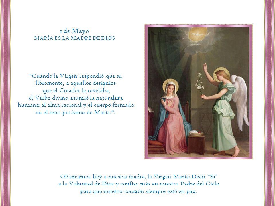 La pureza, la humildad y la generosidad de María hace que nos sintamos movidos a imitarla; somos criaturas de Dios, como Ella, y basta que nos esforcemos por ser fieles, para que también en nosotros el Señor obre cosas grandes.