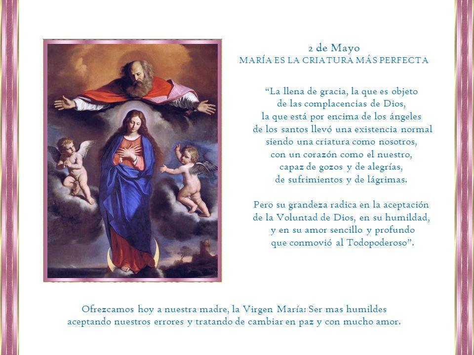 María, Hija de Dios Padre, por la Encarnación del Señor en sus entrañas inmaculadas es Esposa de Dios Espíritu Santo y Madre de Dios Hijo.