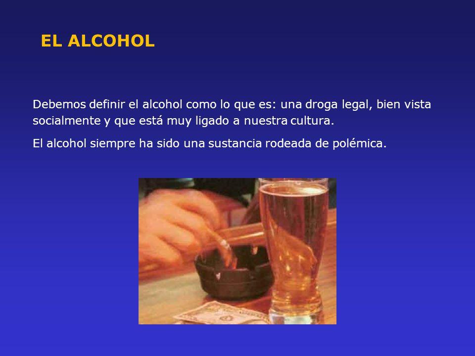 Debemos definir el alcohol como lo que es: una droga legal, bien vista socialmente y que está muy ligado a nuestra cultura. El alcohol siempre ha sido