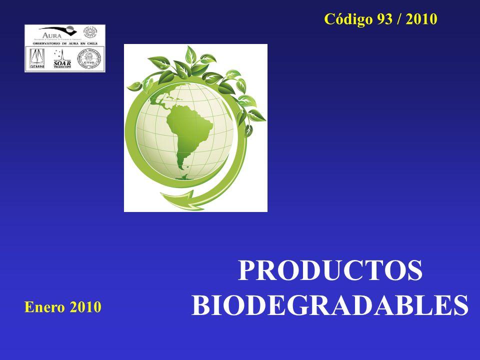 PRODUCTOS BIODEGRADABLES Enero 2010 Código 93 / 2010