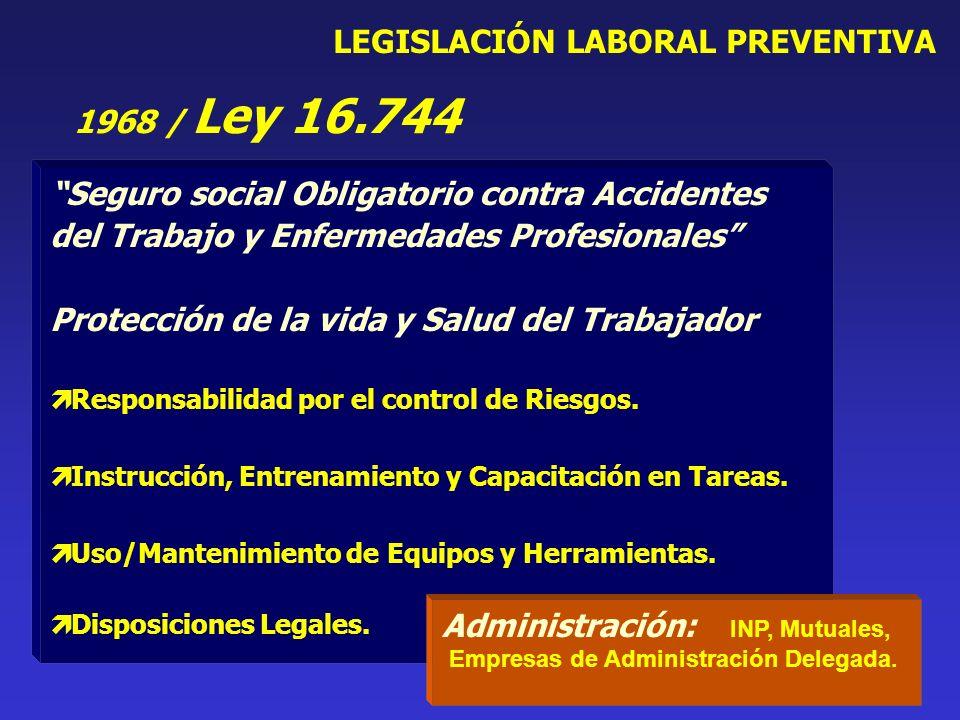 Seguro social Obligatorio contra Accidentes del Trabajo y Enfermedades Profesionales Protección de la vida y Salud del Trabajador Responsabilidad por el control de Riesgos.