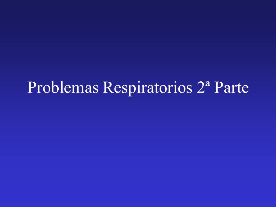 Problemas Respiratorios 2ª Parte