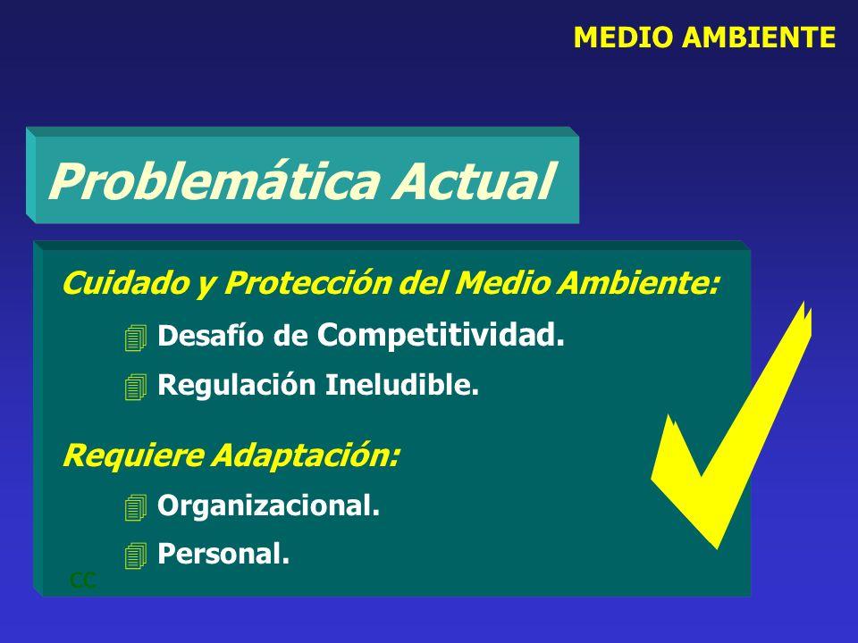 Cuidado y Protección del Medio Ambiente: 4 Desafío de Competitividad. 4 Regulación Ineludible. Requiere Adaptación: 4 Organizacional. 4 Personal. cc M