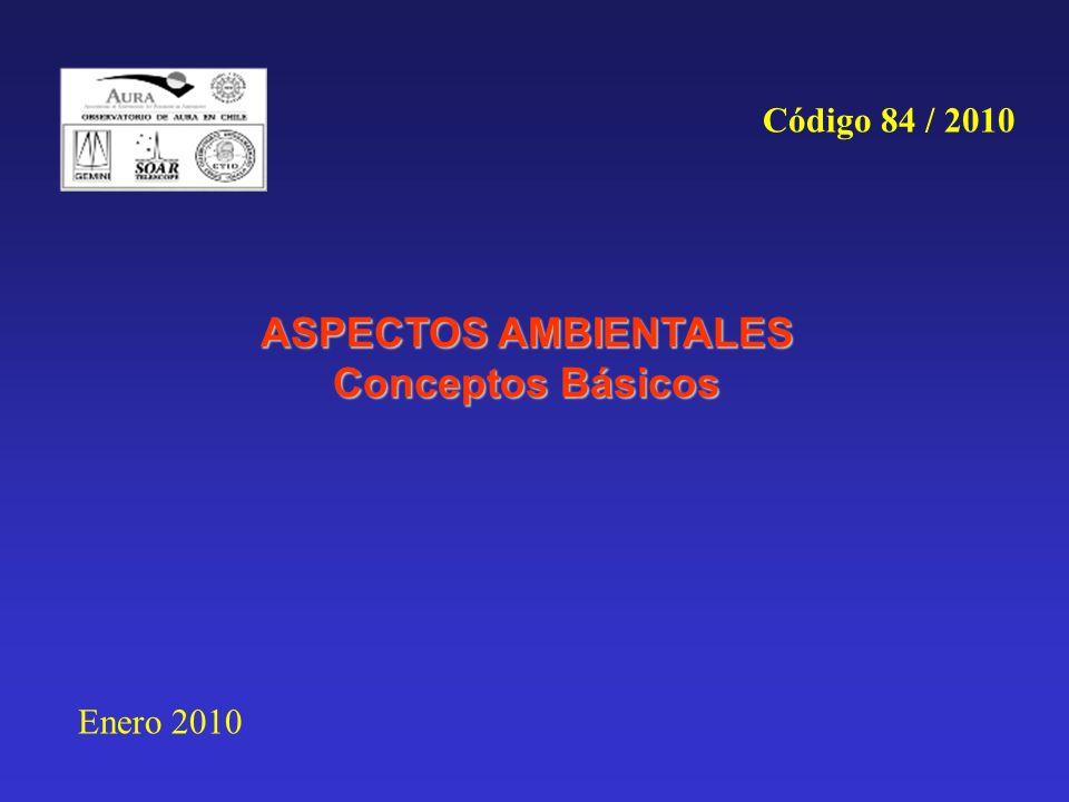 ASPECTOS AMBIENTALES Conceptos Básicos Enero 2010 Código 84 / 2010