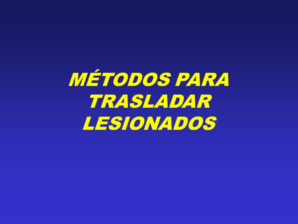MÉTODOS PARA TRASLADAR LESIONADOS