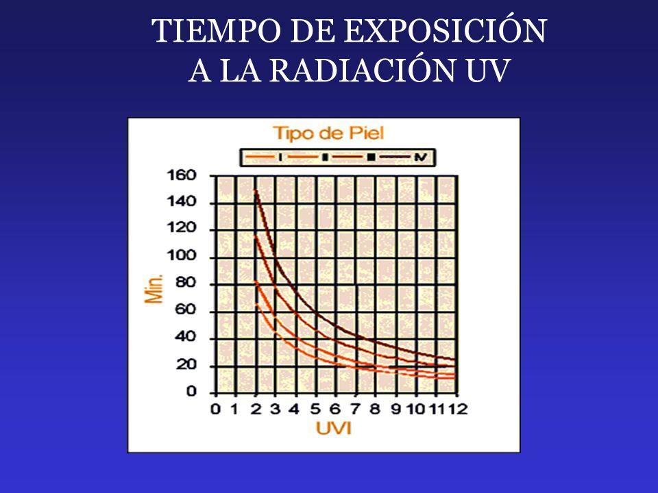 TIEMPO DE EXPOSICIÓN A LA RADIACIÓN UV
