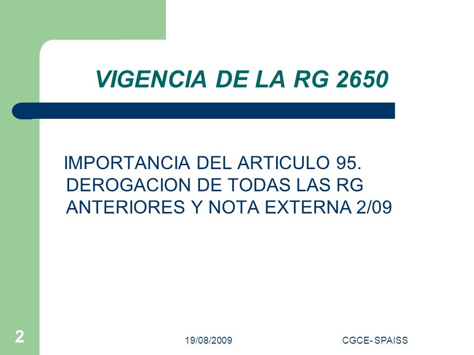 19/08/2009CGCE- SPAISS 13 CONSULTAS DE BLANQUEO Y MORATORIA Una persona física invirtió en un Depto en construcción que se escriturará en Octubre del 2009.