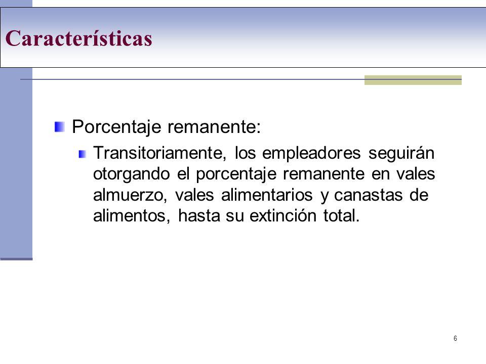 7 Tabla conversión Fecha de ConversiónPorcentaje a convertir en remunerativo Porcentaje remanente no remunerativo Febrero 200810%90% Abril 200810%80% Junio 200810%70% Agosto 200810%60% Octubre 200810%50% Diciembre 200810%40% Febrero 200910%30% Abril 200910%20% Junio 200910% Agosto 200910%0%