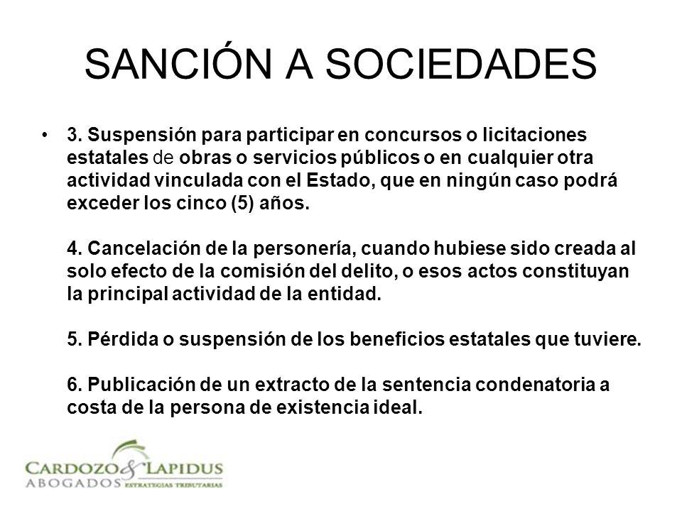 SANCIÓN A SOCIEDADES 3.