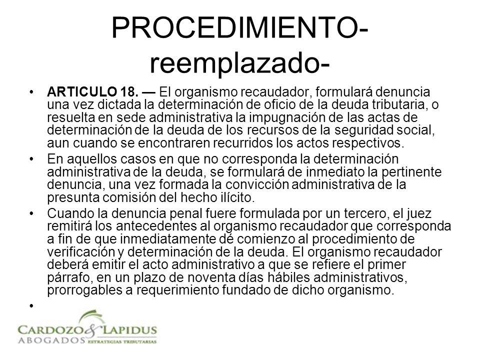 PROCEDIMIENTO- reemplazado- ARTICULO 18.