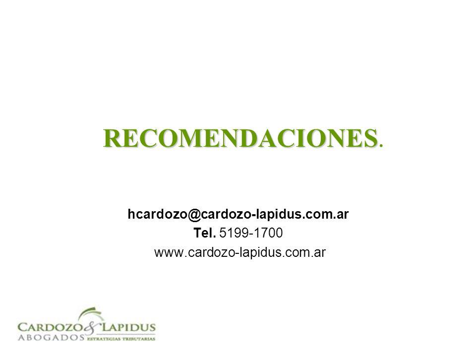 hcardozo@cardozo-lapidus.com.ar Tel.