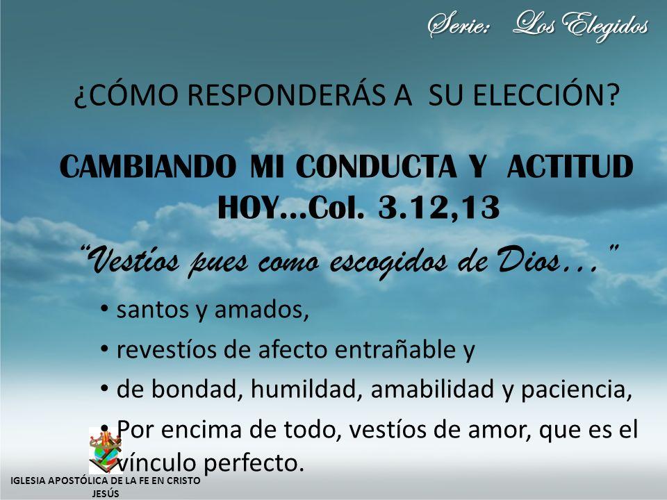 Serie: Los Elegidos ¿CÓMO RESPONDERÁS A SU ELECCIÓN.