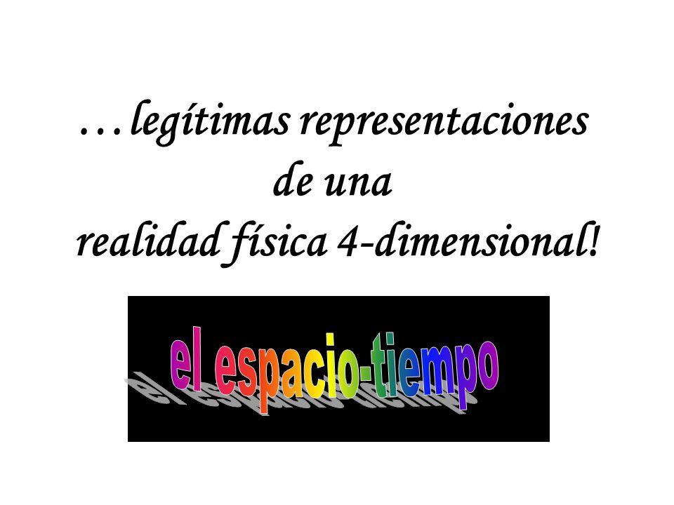 …legítimas representaciones de una realidad física 4-dimensional!