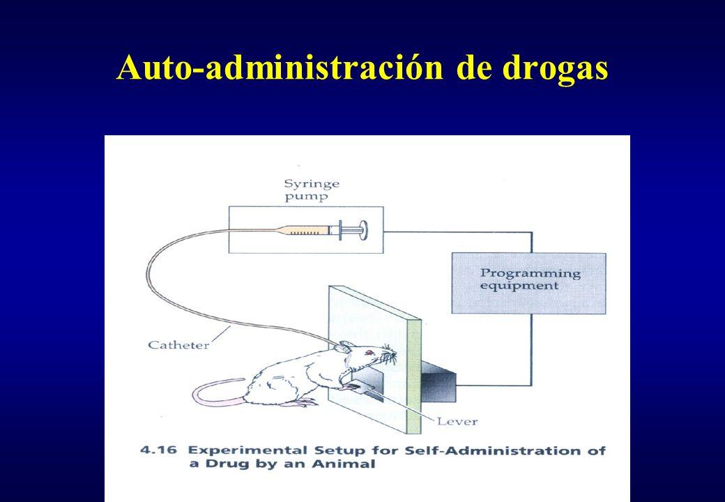 Auto-administración de drogas