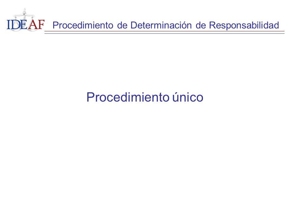 Procedimiento único Procedimiento de Determinación de Responsabilidad