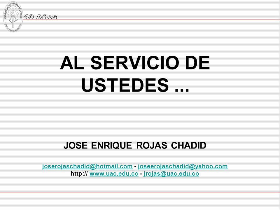 AL SERVICIO DE USTEDES...