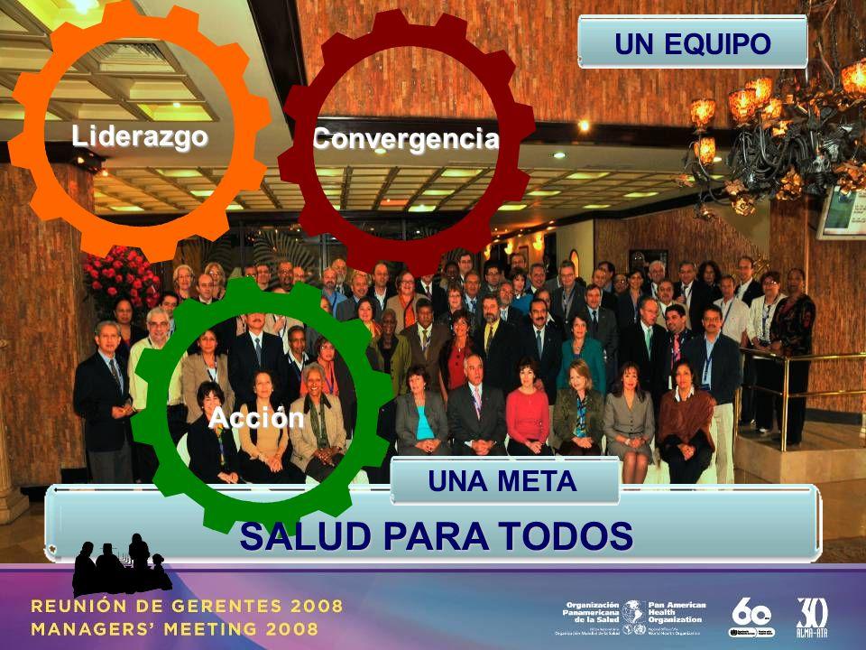 SALUD PARA TODOS Liderazgo Convergencia Acción UN EQUIPO UNA META