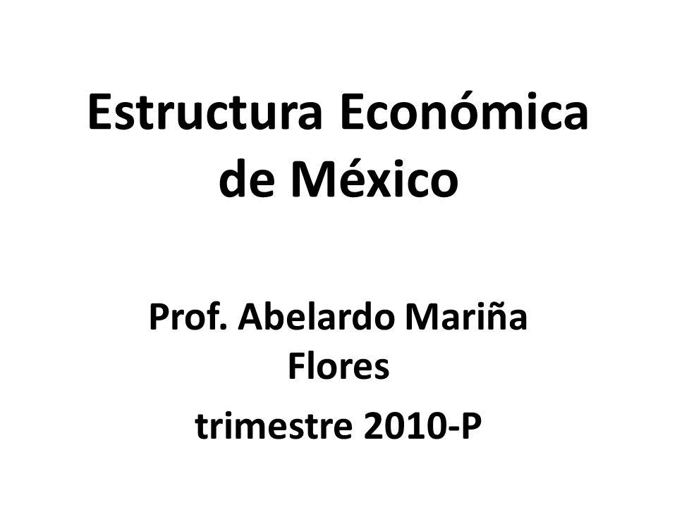Estructura Económica de México Prof. Abelardo Mariña Flores trimestre 2010-P