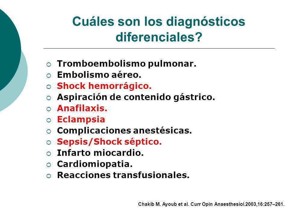 Como se confirma el diagnóstico? Estudio patológico postmortem (vasos pulmonares). a. Células escamosas fetales (cérvix). b. Detritos fetales. c. Inmu