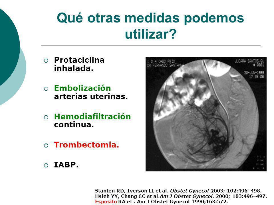 Qué otras medidas podemos utilizar? Amniotic Fluid Embolism Causing Catastrophic Pulmonary Vasoconstriction: Diagnosis by Transesophageal Echocardiogr