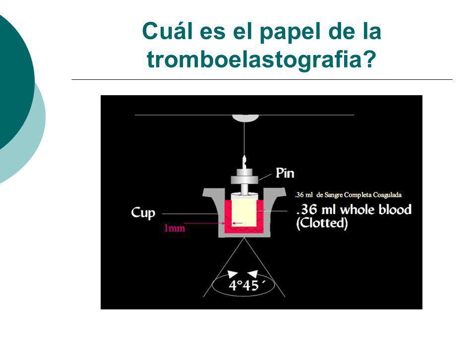 Cuál es el papel de la tromboelastografia?