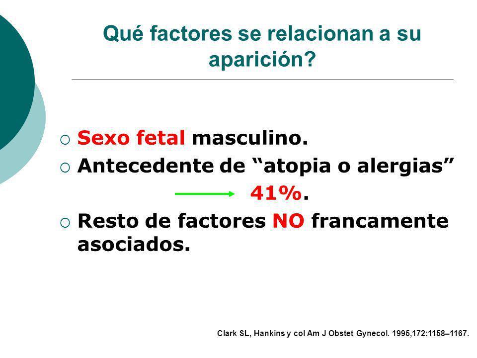 Qué factores se han relacionado a su aparición? Multiparidad. Edad materna avanzada. Trabajo de parto complicado. Uso de oxitócicos en altas dosis. Am