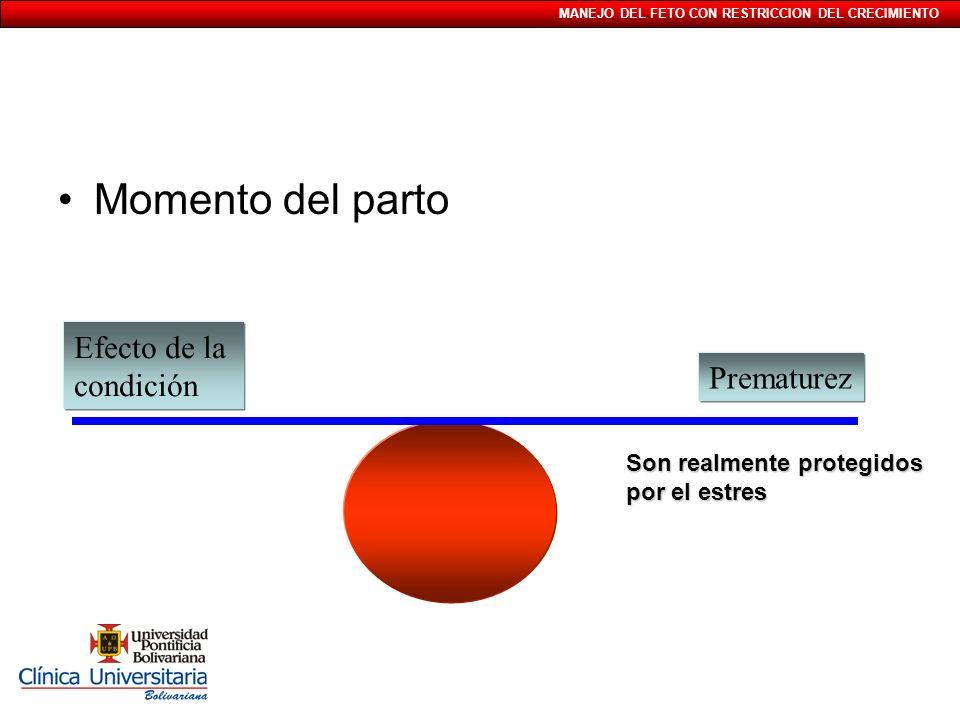 MANEJO DEL FETO CON RESTRICCION DEL CRECIMIENTO Test integrado por qué ?Test integrado por qué .