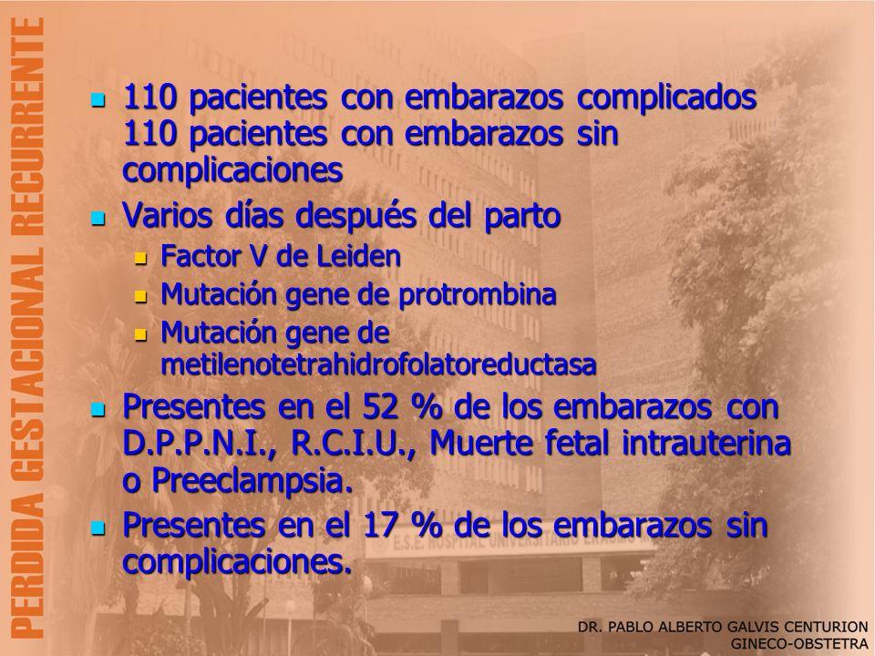 110 pacientes con embarazos complicados 110 pacientes con embarazos sin complicaciones 110 pacientes con embarazos complicados 110 pacientes con embar