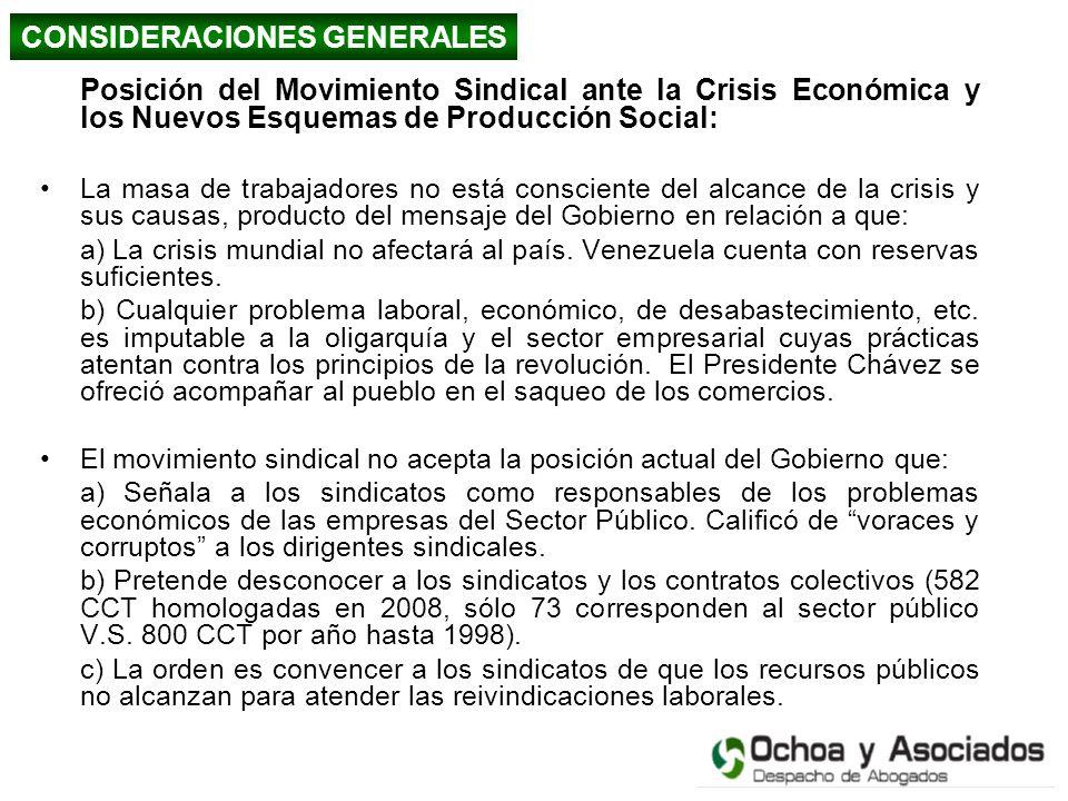 Posición del Movimiento Sindical ante la Crisis Económica y los Nuevos Esquemas de Producción Social: La masa de trabajadores no está consciente del a