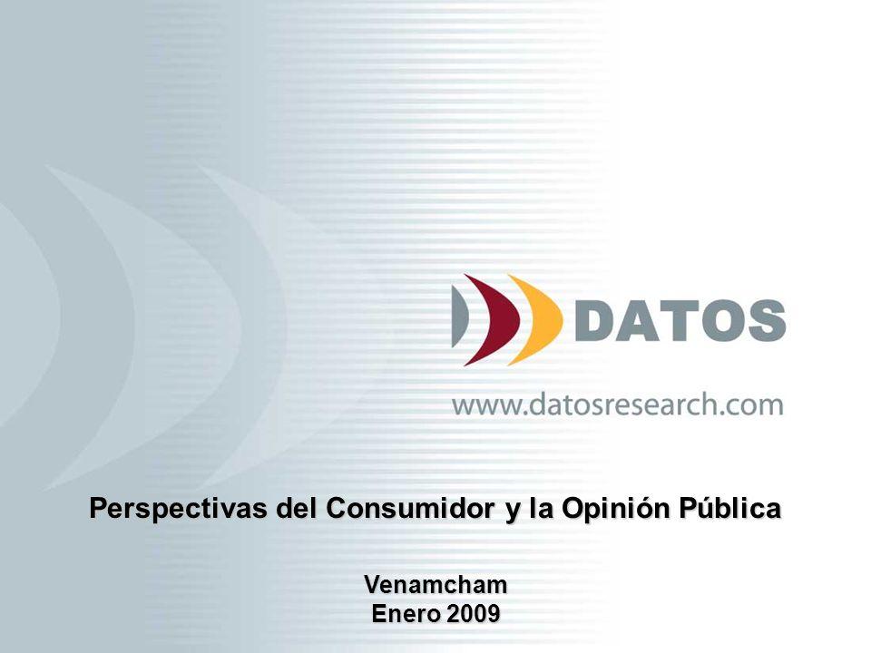 2 Perspectivas Económicas Venamcham 2009 Contenido Desaceleración del poder adquisitivo del consumidor Incertidumbre en las expectativas Perspectivas Erosión y cambios Opinión Pública