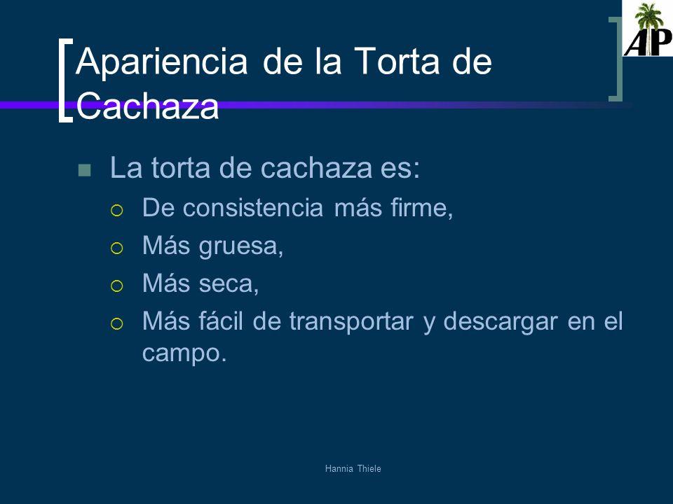 Hannia Thiele Desventajas El consumo de floculante es alto: Durante la zafra 2008-2009 fue 12 ppm con base en caña, superior al de clarificación de jugo (10,4371).