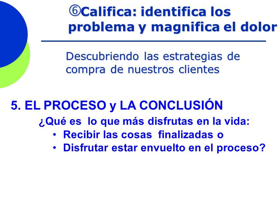 Califica: identifica los problema y magnifica el dolor Califica: identifica los problema y magnifica el dolor Descubriendo las estrategias de compra d