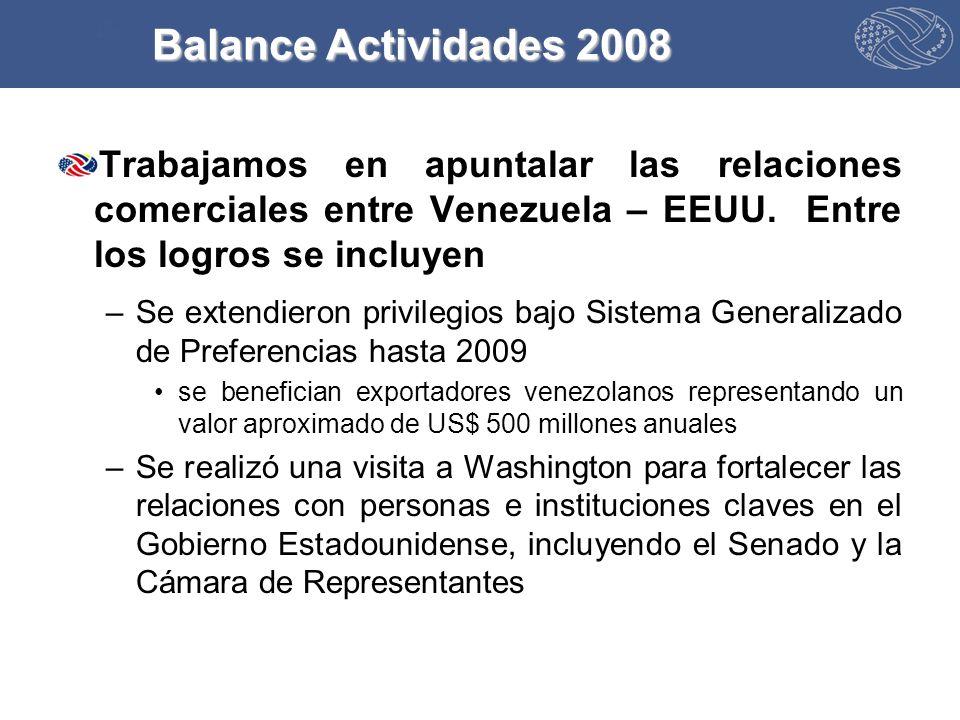 Trabajamos en apuntalar las relaciones comerciales entre Venezuela – EEUU.