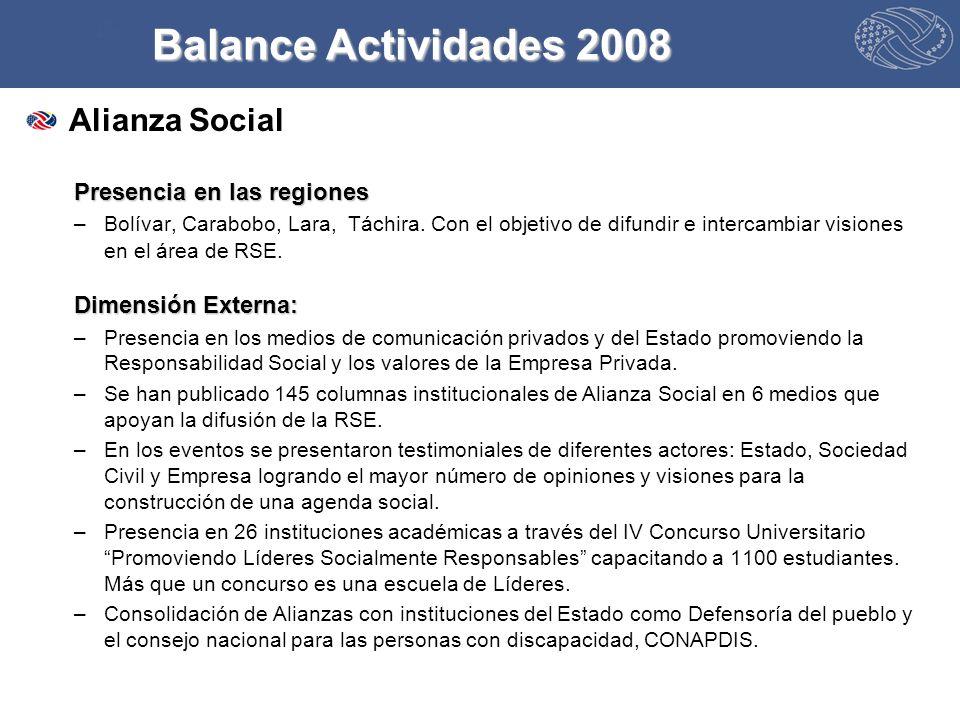 Alianza Social Presencia en las regiones –Bolívar, Carabobo, Lara, Táchira.