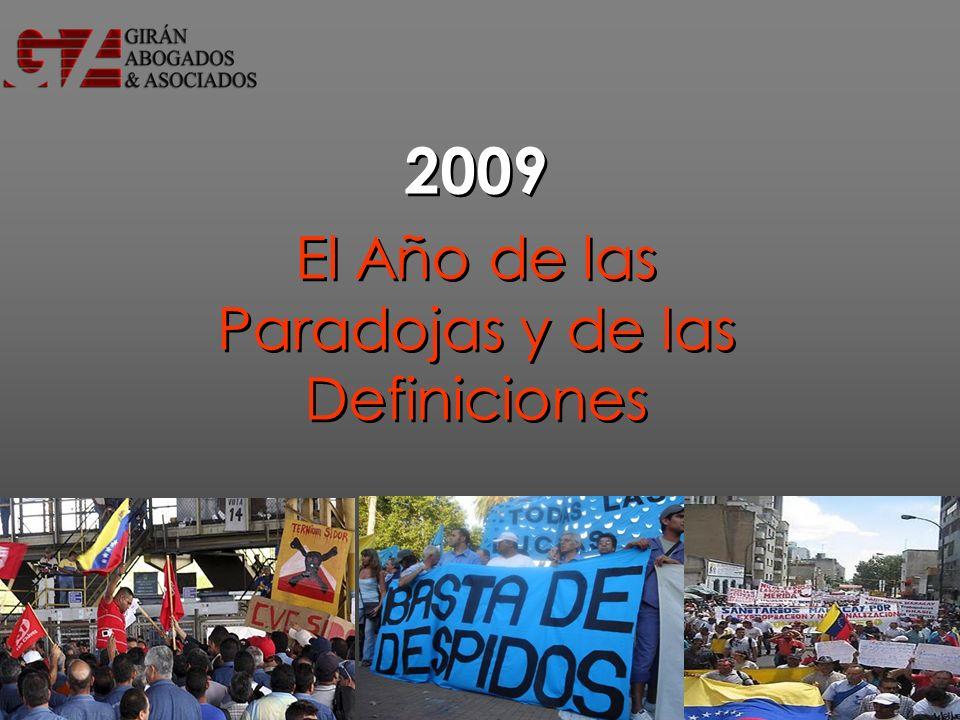 2009 El Año de las Paradojas y de las Definiciones 2009 El Año de las Paradojas y de las Definiciones