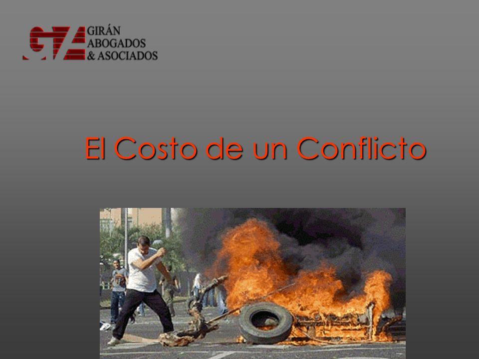 El Costo de un Conflicto