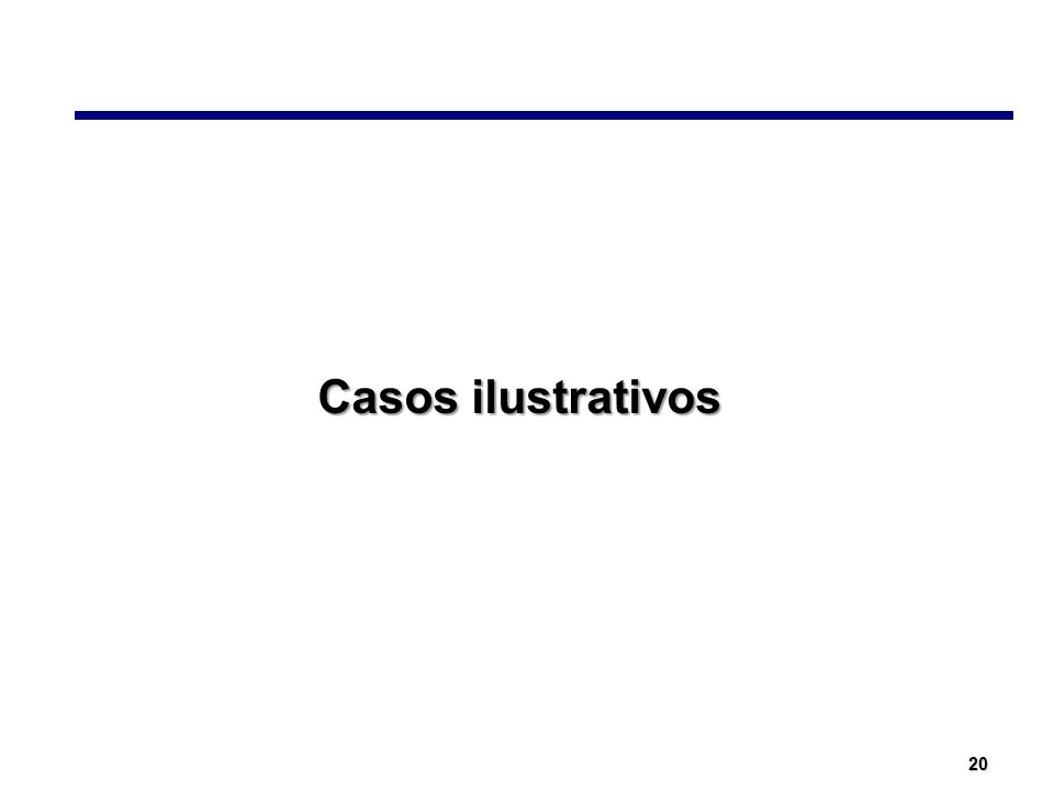 20 Casos ilustrativos