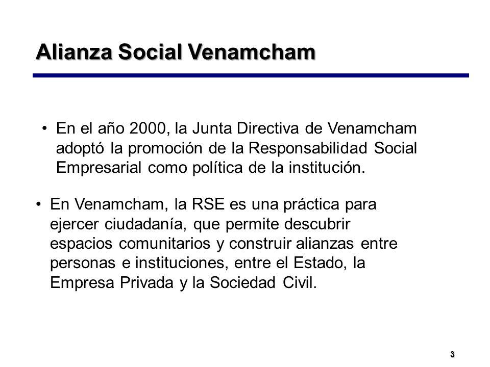 3 En el año 2000, la Junta Directiva de Venamcham adoptó la promoción de la Responsabilidad Social Empresarial como política de la institución. Alianz